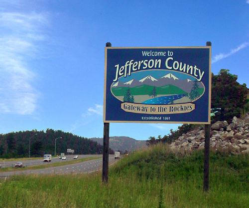 Jeffco Welcome Sign