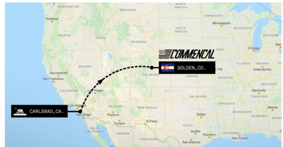 Commencal Map from Carlsbad CA - JeffcoEDC on